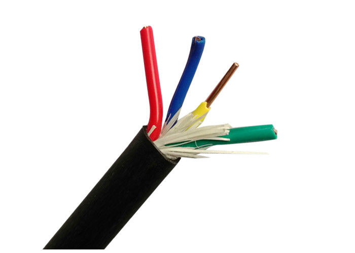 Vier Kern-elektrisches Kabel-Draht mit festem kupfernem Leiter 450 ...