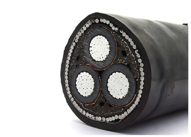 China Steel Wire Medium Voltage Armoured Electrical Cable CU/XLPE/CTS/STA/PVC 6.35/11KV usine